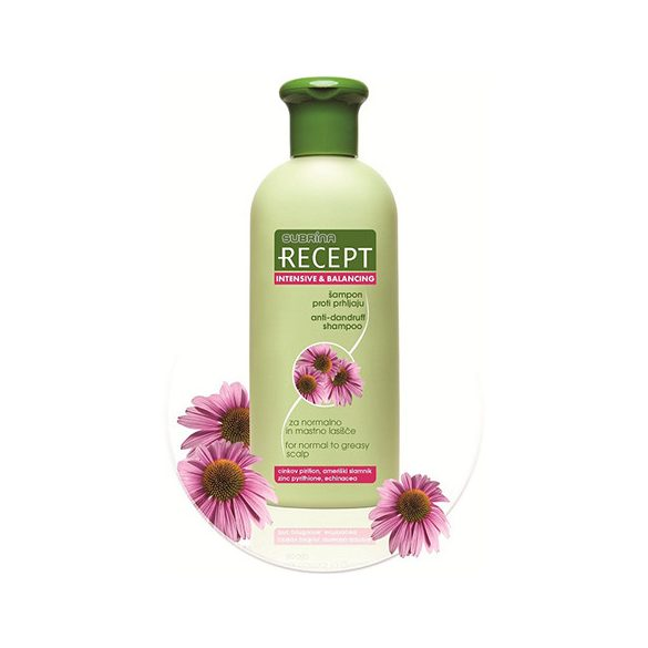 Subrina RECEPT sampon korpásodás ellen zsíros hajra 400 ml