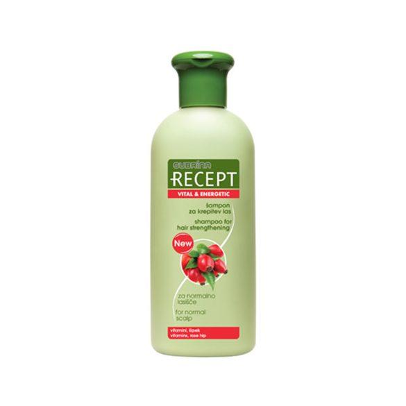 Subrina RECEPT hajerősítő és tápláló sampon csipkebogyó kivonattal 400 ml