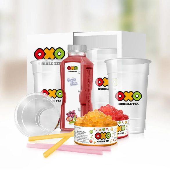 OXO Bubble Tea HOME csomag SZŐLŐ-LICSI íz