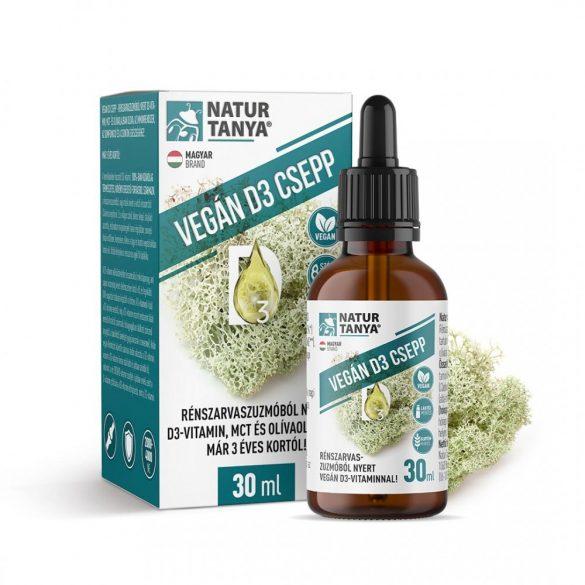 Natur Tanya VEGÁN D3-vitamin csepp rénszarvaszuzmóból 30 ml