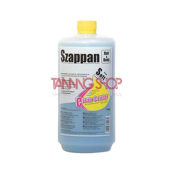 Clean Center SOFT hair&body sampon, tusfürdő, szappan 1 liter [karon - 8 flakon]