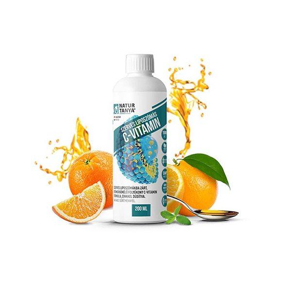 Natur Tanya Liposzómás C-vitamin + cink folyékony formában 200 ml