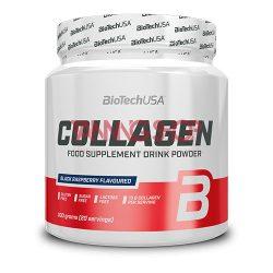 BioTechUSA Collagen 300 g [fekete málna]