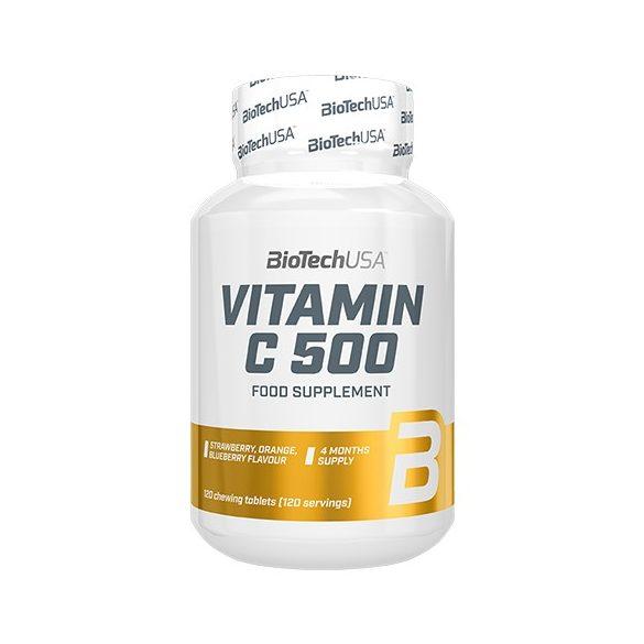 BioTechUSA  Vitamin C 500 - 120 rágótabletta