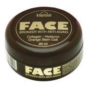 KiwiSun Face Bronzer 20 ml [szoláriumozás előtti bronzosító arckrém]