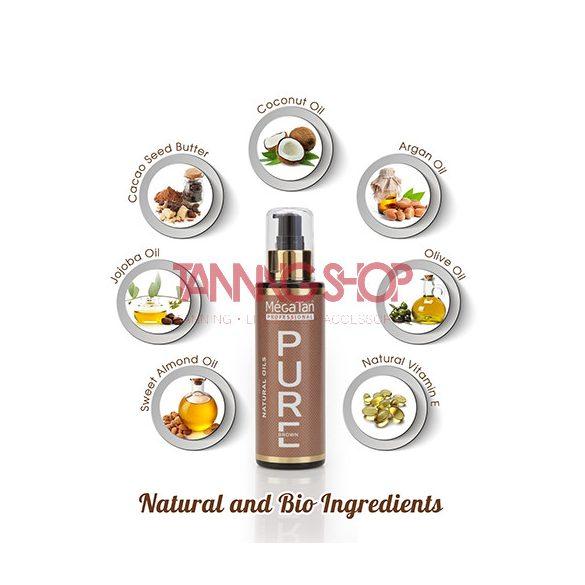MégaTan PURE brown Natural Tanning Oil 140 ml