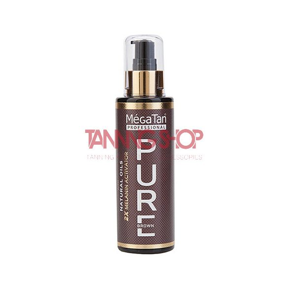 MégaTan PURE brown Natural Dry Tanning Oil + 2X Melanin 140 ml