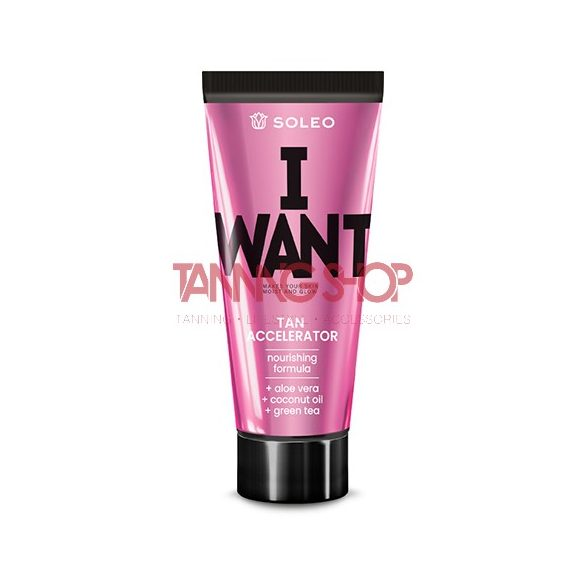 Soleo I Want 150 ml [Tan Accelerator]