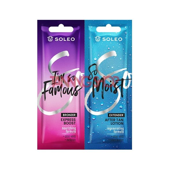 Soleo I'm So Famous Bronzer 15 ml [Express Boost] + Soleo So Moist 15 ml [After Tan Lotion]