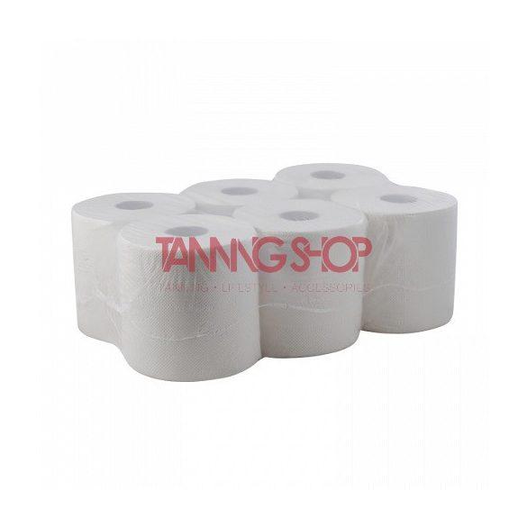 Szolárium papírtörlő [tekercses, kétrétegű, 100% cellulóz, extra fehér színű, 19 cm]